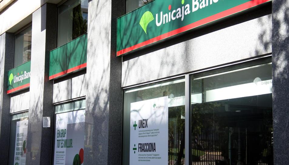 Imatge d'arxiu de les oficines d'Unicaja Banco.