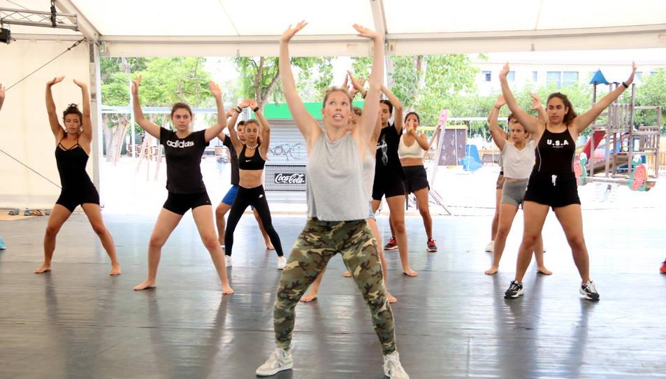 La coreògrafa Kim Jordan durant un taller de l'edició 2019.