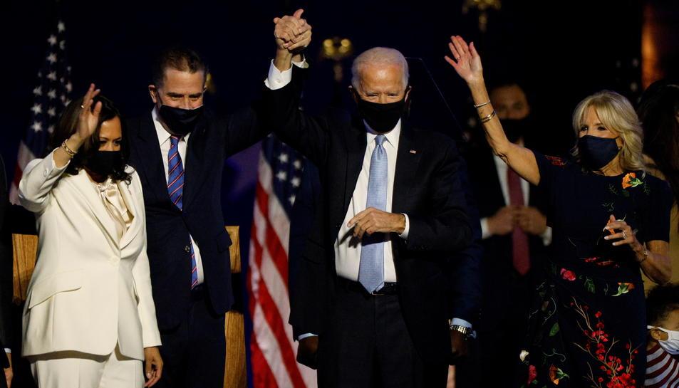El president electe dels EUA, Joe Biden, i la seva número dos, Kamala Harris.