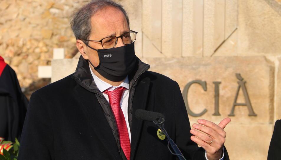 Primer pla de l'expresident de la Generalitat Quim Torra.