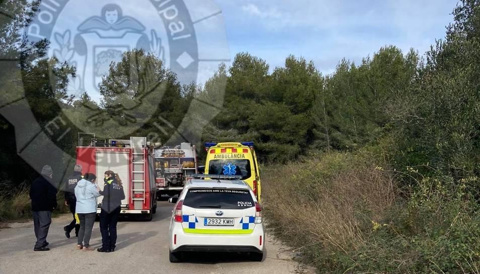 Imatge del lloc on ha tingut lloc l'accident