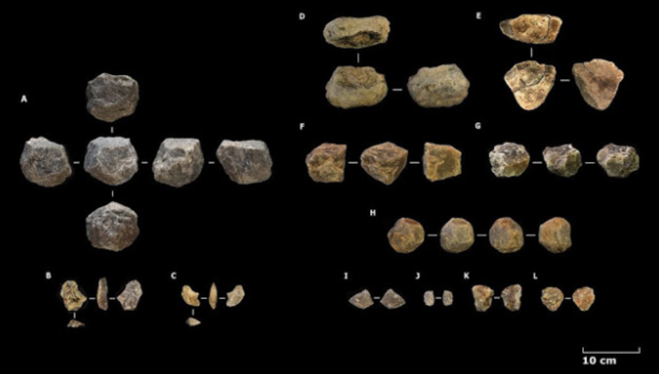 Selecció del conjunt lític recuperat a Ewass Oldupa - Mercader et al.