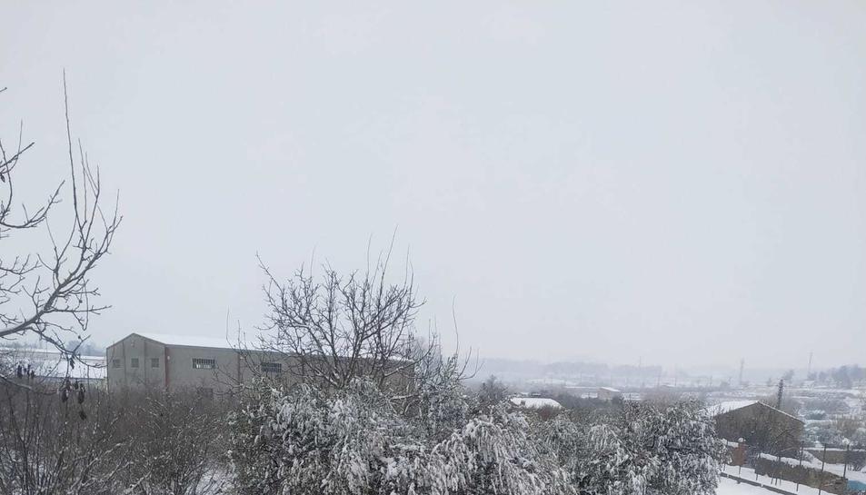 L'Espluga de Francolí, nevada