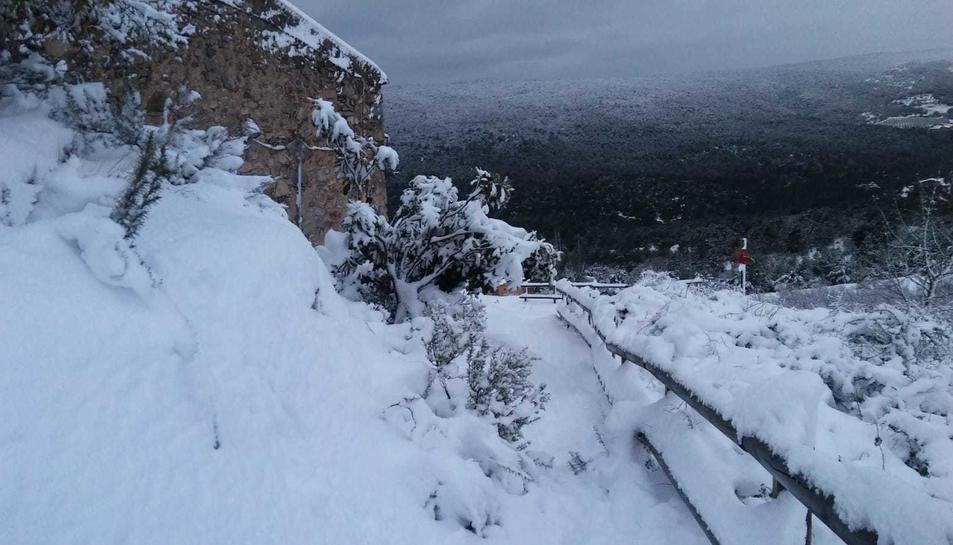 La nevada en Mont-ral