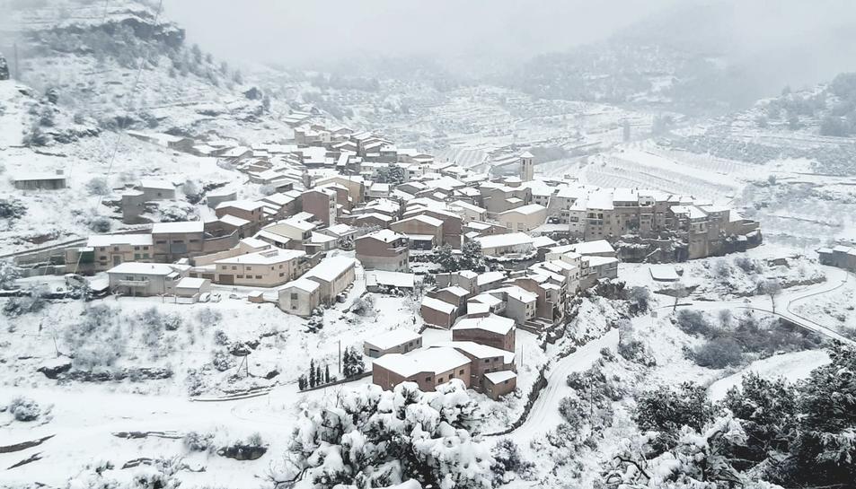 Imatge de la Bisbal de Falset, un dels municipis amb problemes de subminstrament elèctric.