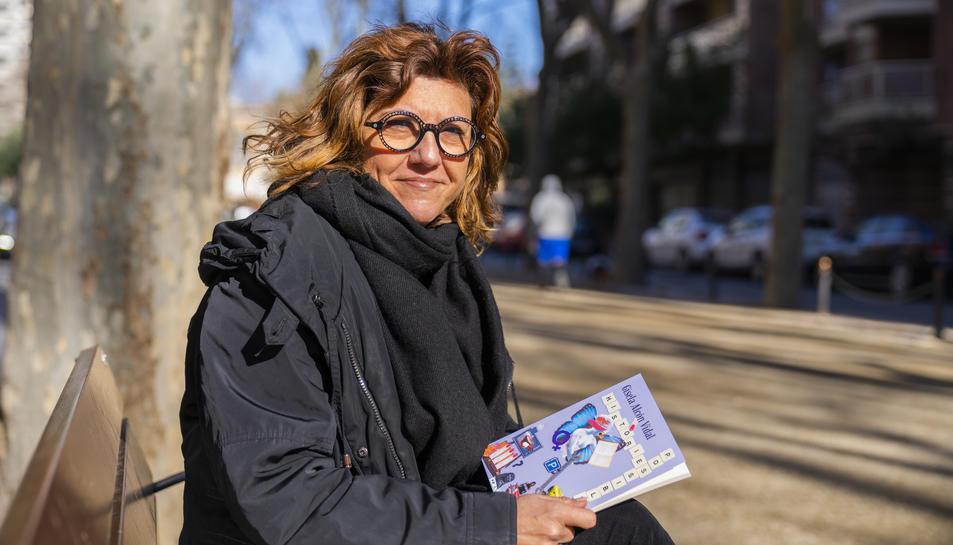 La Gisela Alcón, al seu domicili de Reus, aquest dilluns.