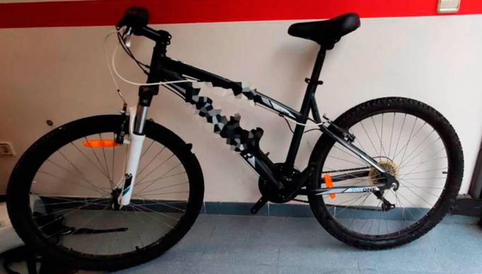 Imatge de la bicicleta recuperada.