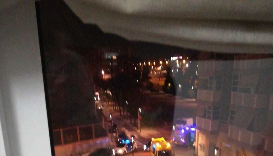 Imatge dels serveis mèdics al lloc de l'accident el divendres.