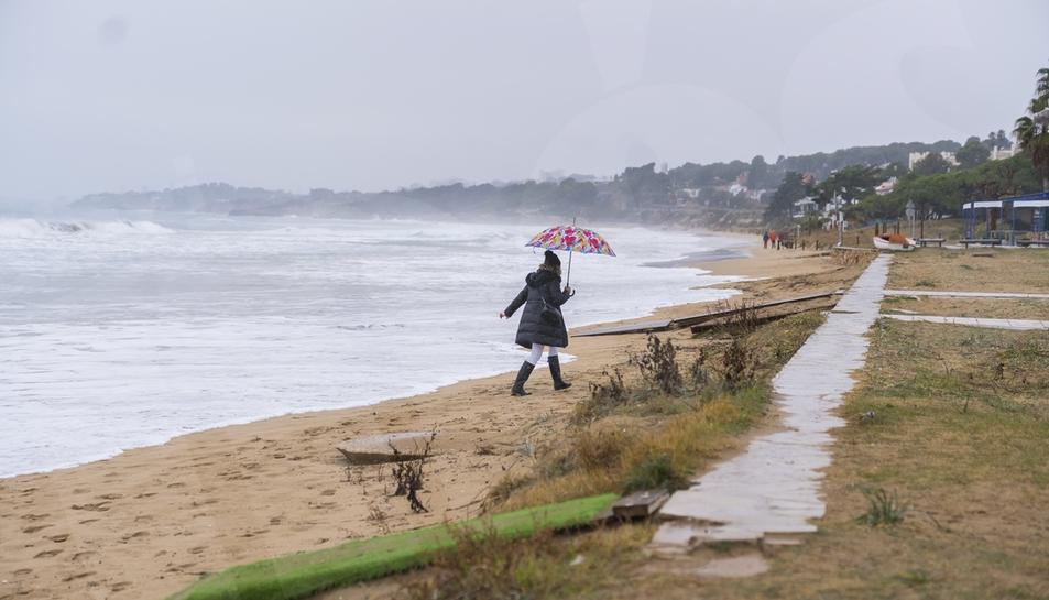 Les polatges de Tarragona desapareixen a causa del temporal Filomena