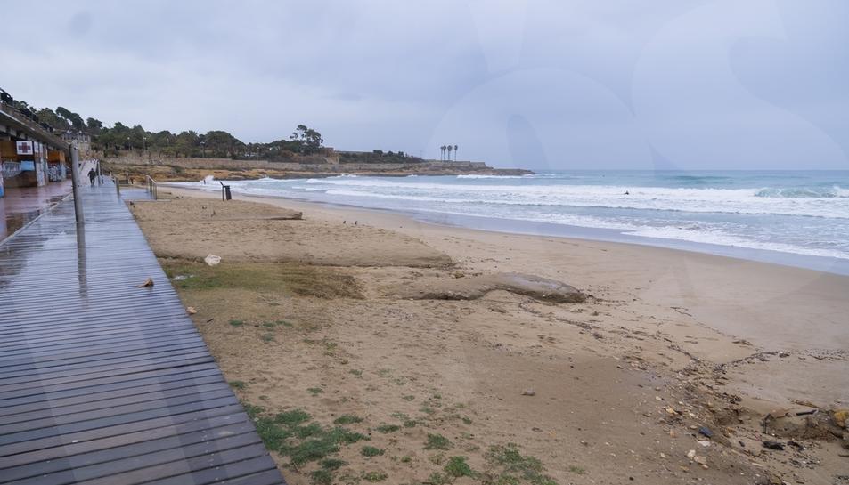 Les platges de Tarragona desapareixen a causa del temporal Filomena