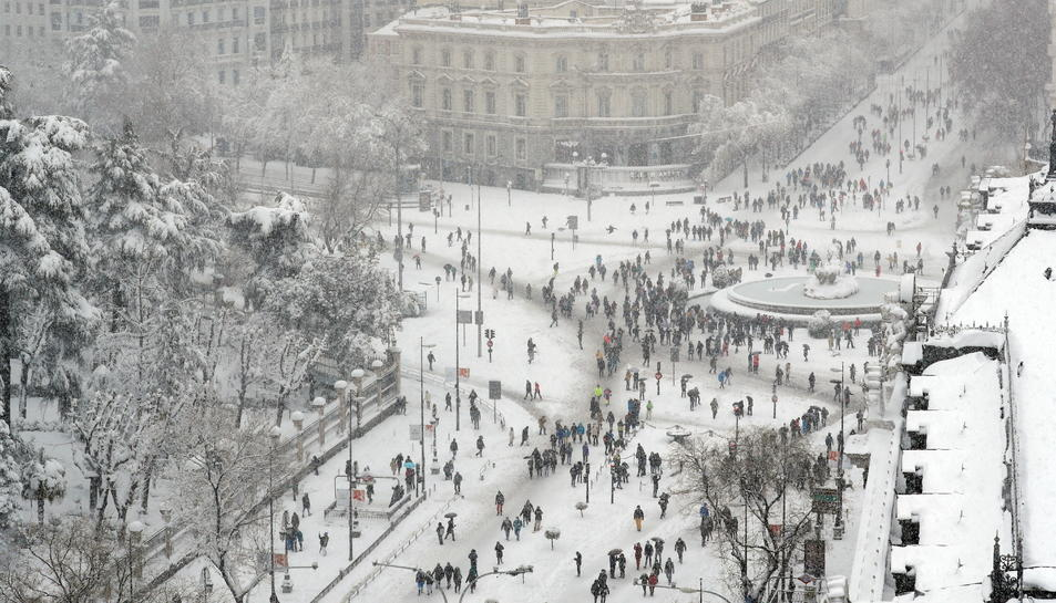 Madrid nevat durant el temporal Filomena.