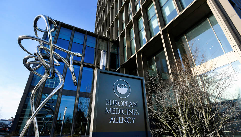 L'exterior d'Agència Europea del Medicament a Amsterdam, Països Baixos.