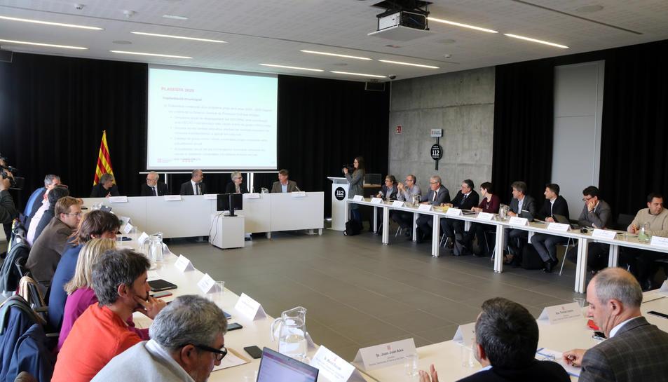Rreunió de la Comissió Plenària de Protecció Civil, al 112 de Reus, per avaluar el Plaseqta