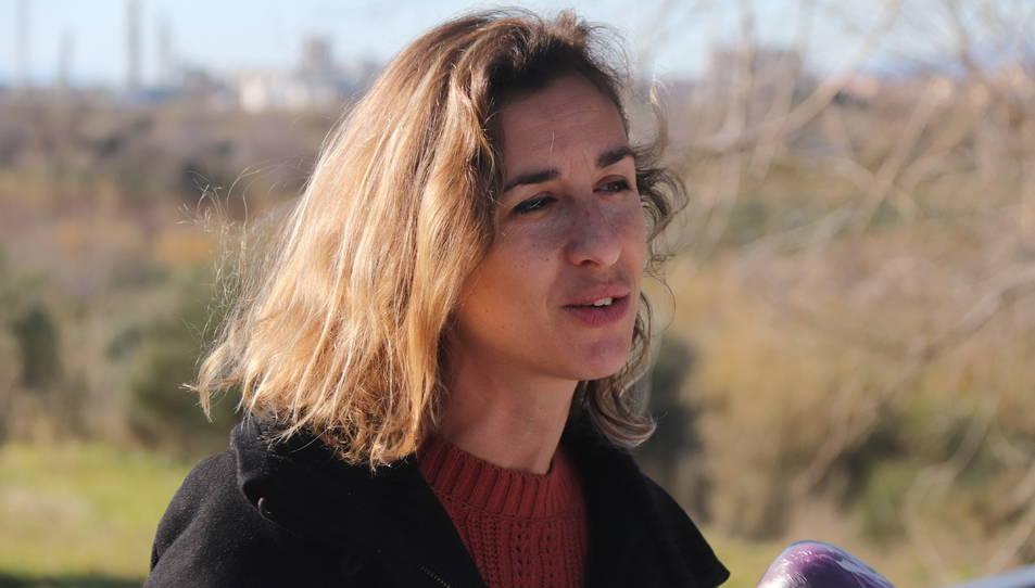 La cap de llista de la CUP per Tarragona a les eleccions del 14-F, Laia Estrada.