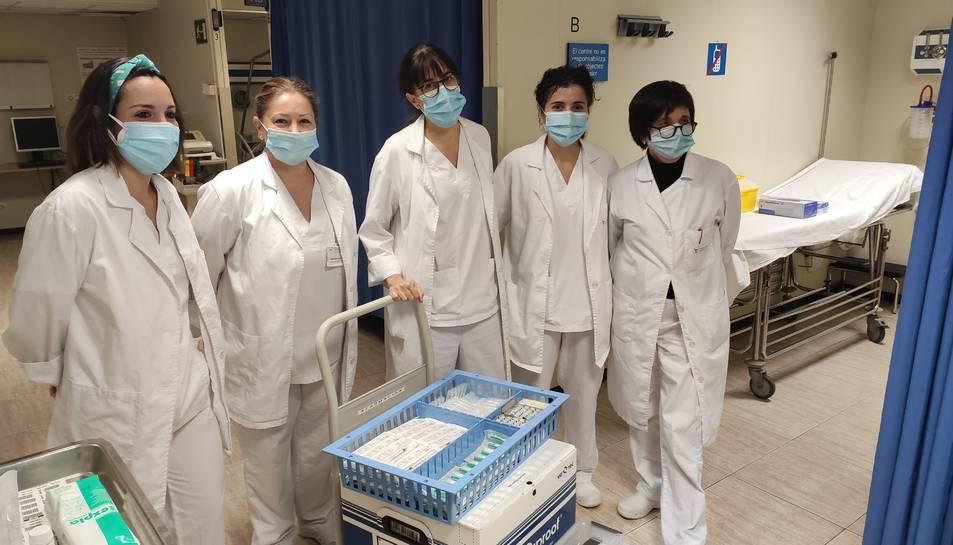 Imatge de les vacunes de Pfizer a Santa Tecla.