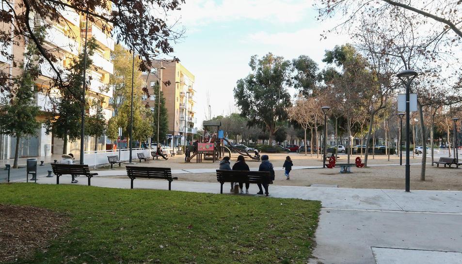 La part on s'intervindrà queda compresa entre els edificis i el carrer Alcalde Joan Bertran.