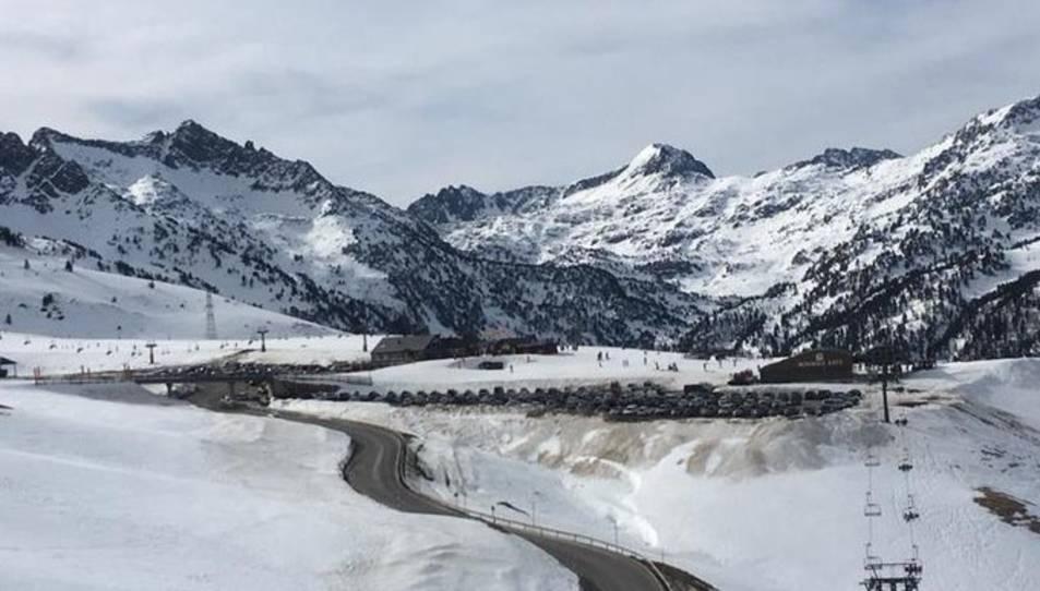 Imatge de la neu després del temporal Filomena.