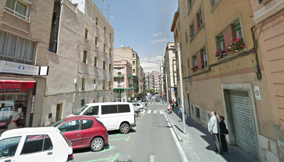 L'últim tram del carrer López Peláez abans que comencessin les obres a l'antiga comandància.