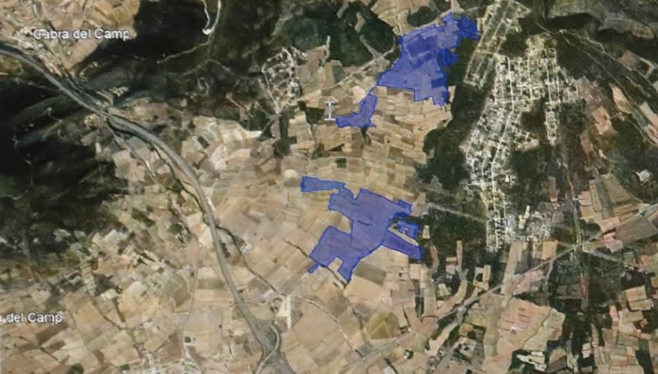 Projecte de planta solar entre Cabra del Camp i el Pla de Santa Maria (Alt Camp), de Merlot Solar SL.
