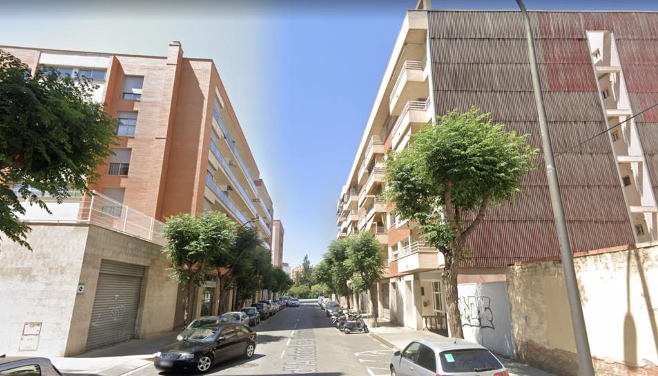 Imatge del carrer Antoni de Bofarull de Reus.