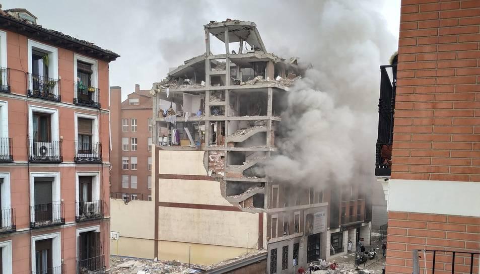 Imatge de com ha quedat l'edifici.