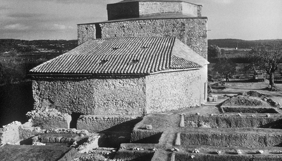 El conjunt arqueològic de Centcelles, dins del terme municipal de Constantí.