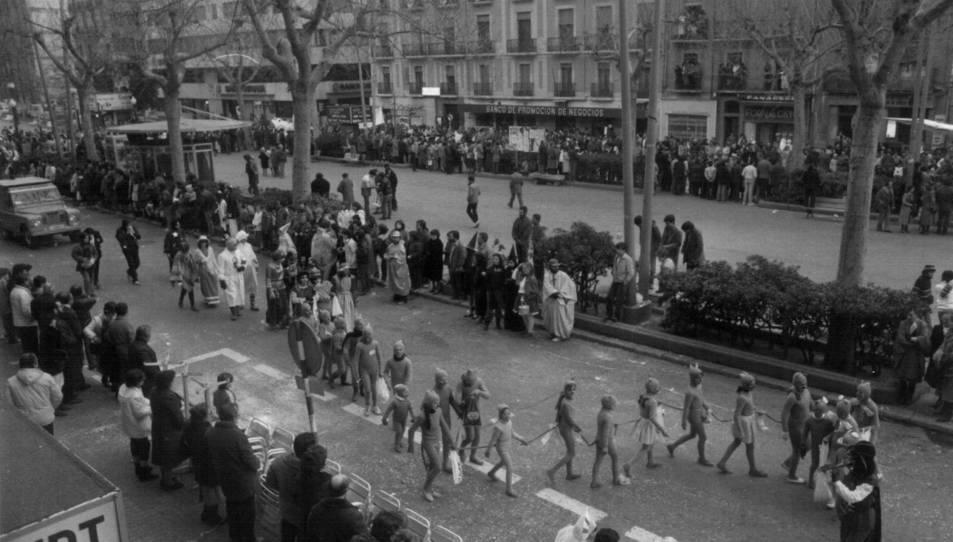 Rua pels carrers de Tarragona. 1983  (