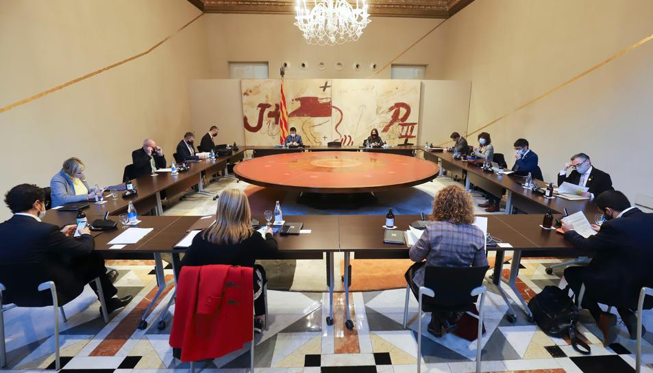 Els membres del Govern en la reunió del Consell Executiu.