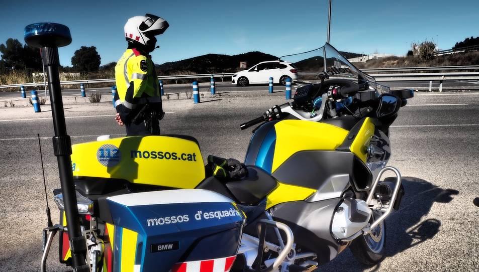 Imatge d'un control dels Mossos d'Esquadra.