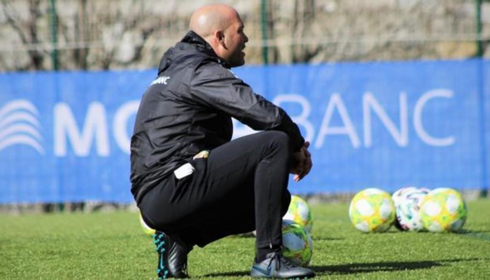 Gabri Garcia, entrenant a l'Andorra.