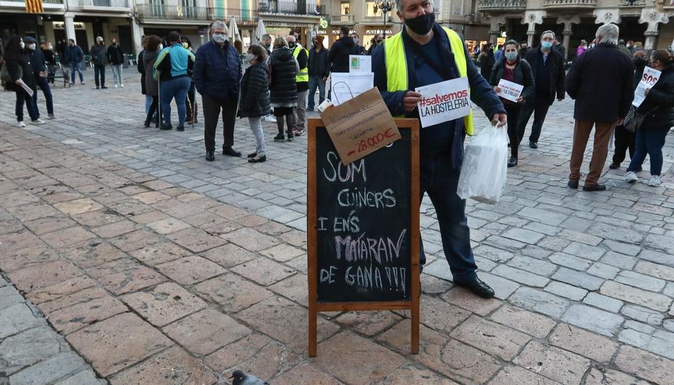 Imatge de la protesta a la Mercaddal.