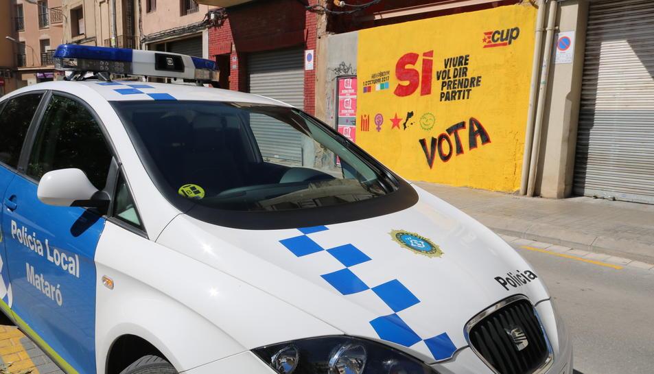 Imatge d'arxiu d'un vehicle de  la Policia Local de Mataró.