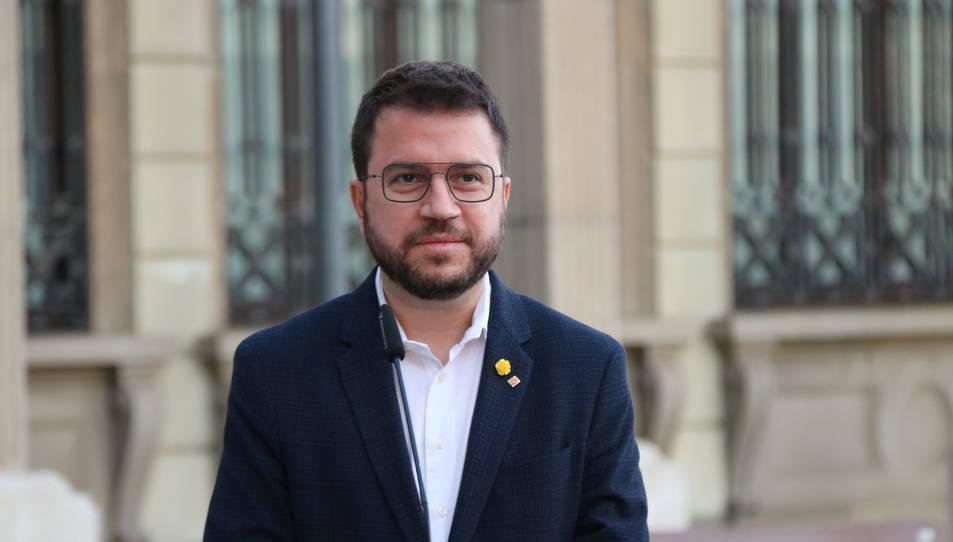 Primer pla del vicepresident Pere Aragonès.