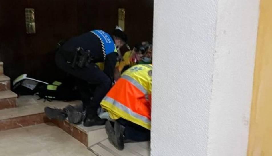 Moment de l'actuació policial.