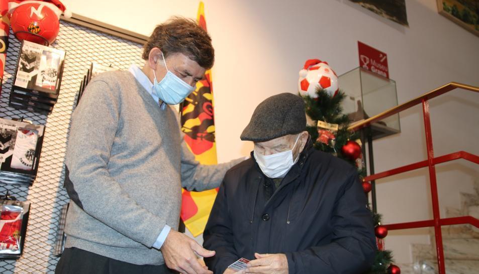 El president del Nàstic amb Josep Fort, en una imatge d'arxiu.