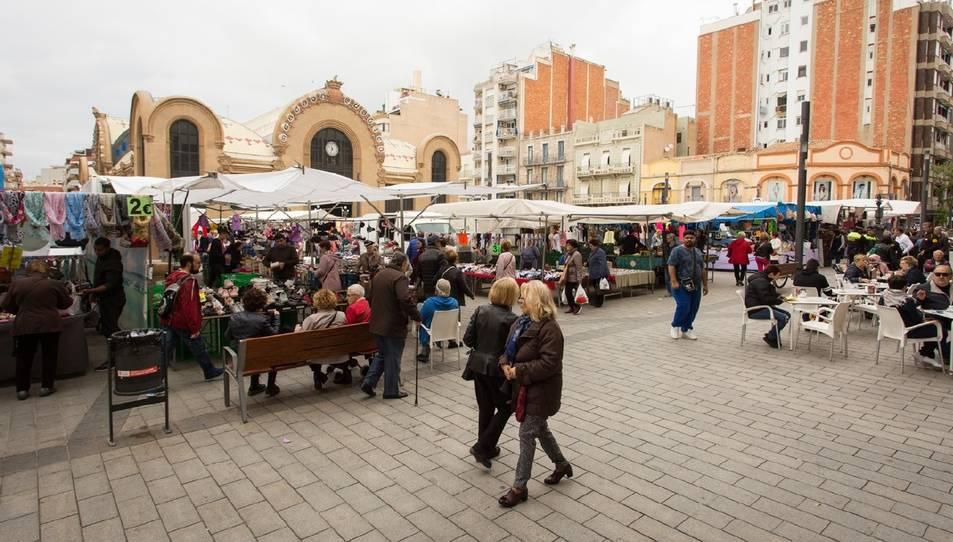 Imatge de la plaça Corsini de Tarragona.