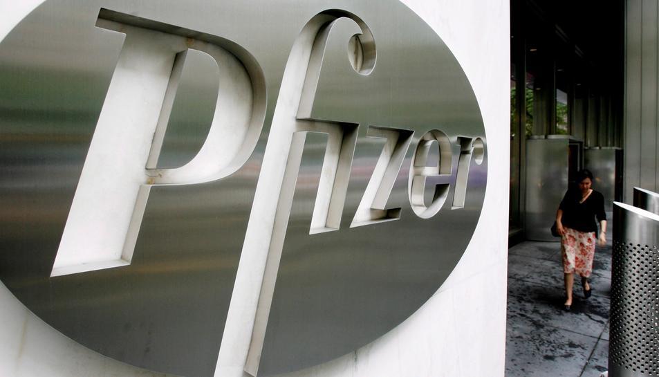 Imatge de la seu de la farmacèutica Pfizer a Nova Work.