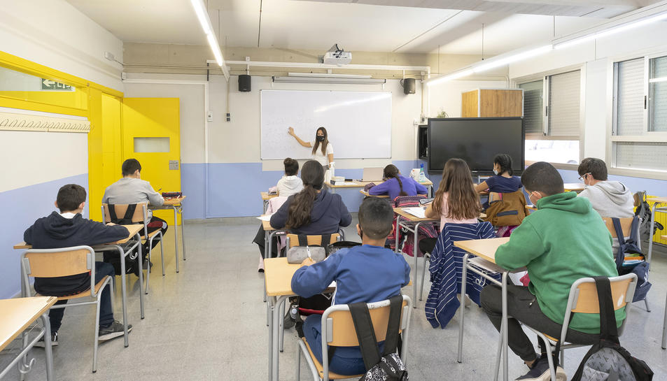 Imatge d'arxiu d'una classe a Constantí.