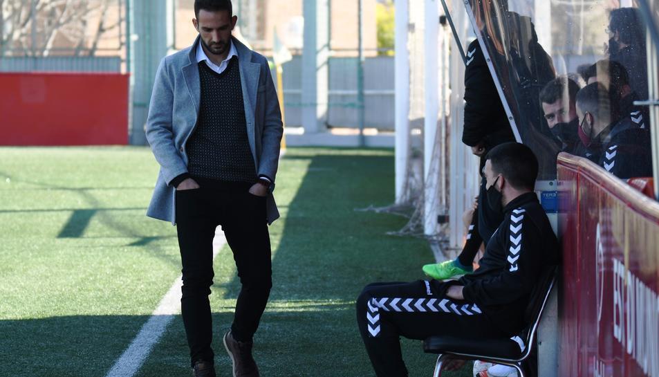 Dani Vidal, durant el CF Pobla de Mafumet-Vilafranca d'aquest passat diumenge.
