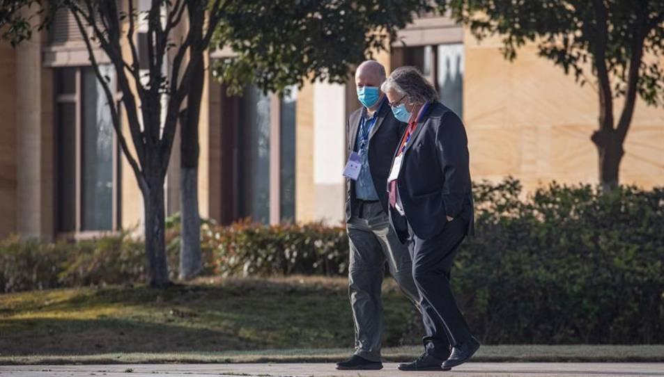 Dos experts internacionals de la missió de l'OMS que investiguen a la Xina l'origen del coronavirus.