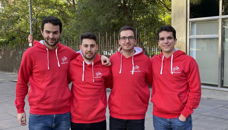 Gerard Jané, Xavi Llordella, Pol Rodoreda i Martín Simón formen l'equip de 'MegaSquare'.