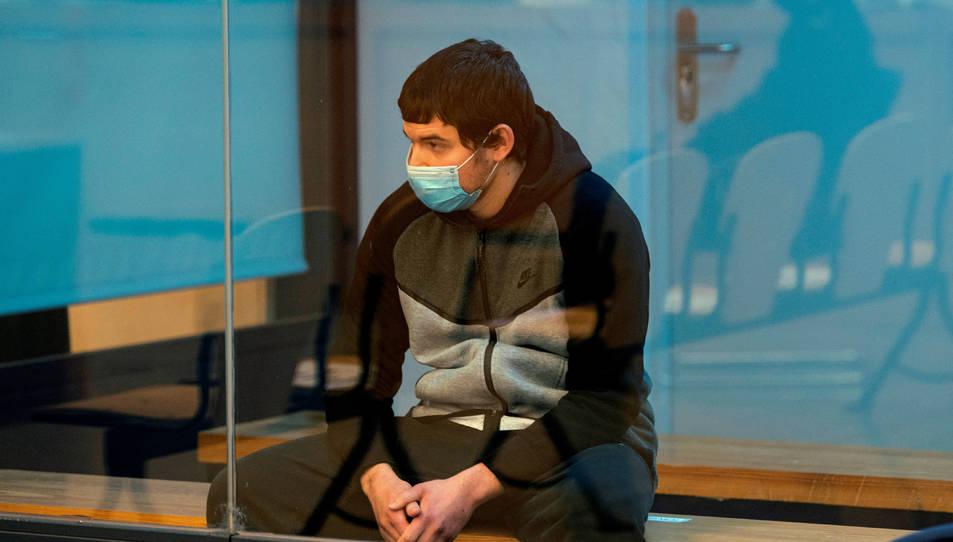 Mohamed Houli, a l'inici del judici sobre els atemptats de Barcelona i Cambrils.