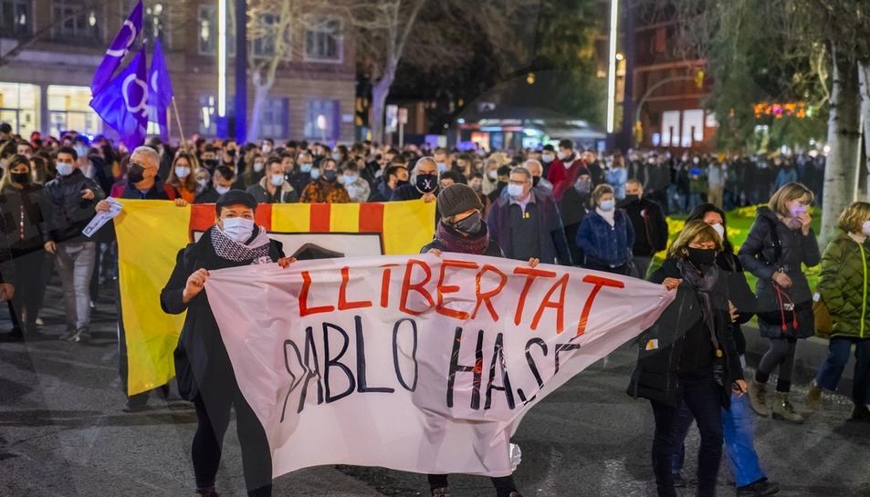 Concentració i manifestació de protesta per l'empresosament de Pablo Hasél a Tarragona