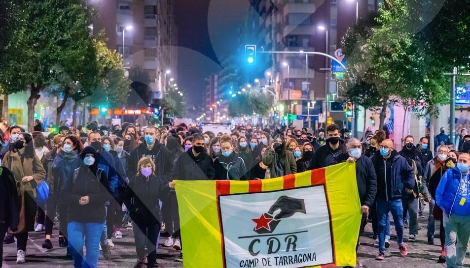 Segundo día de movilización por el encarcelamiento de Pablo Hasel en Tarragona