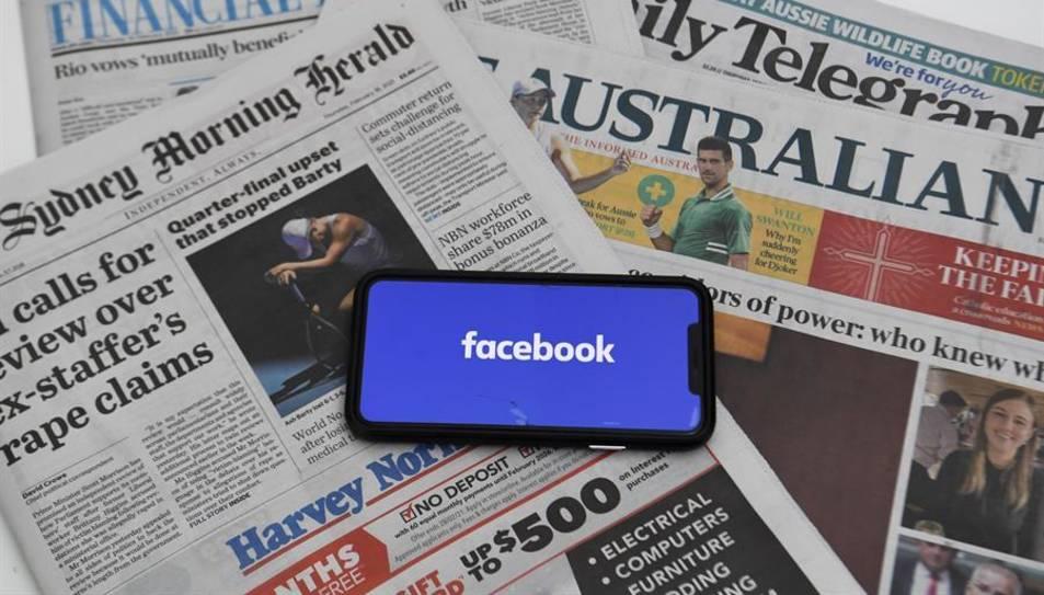 Facebook prohibirà als editors i a la resta d'usuaris australians compartir notícies elaborades per mitjans de comunicació a la seva plataforma.