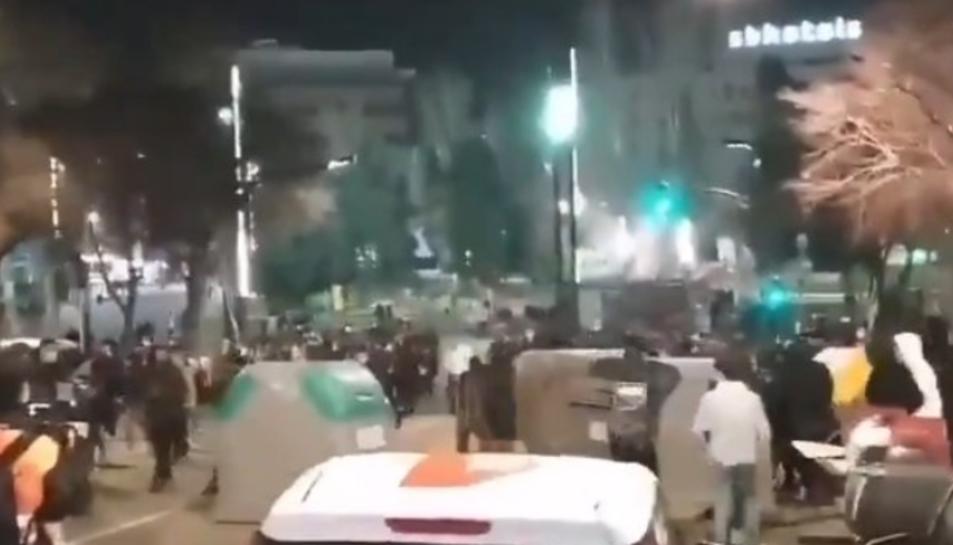 Primeres barricades a Tarragona.