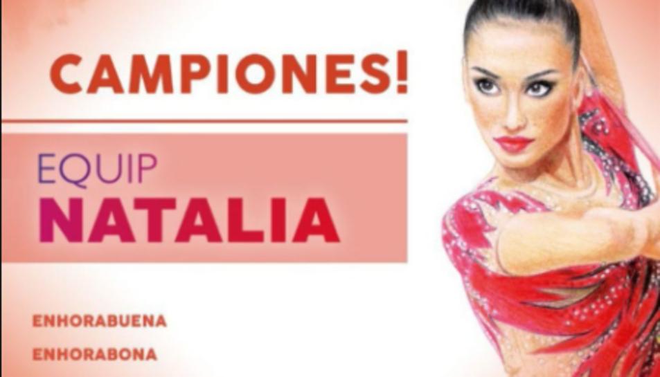 Cartell dels guanyadors de Rítmica.
