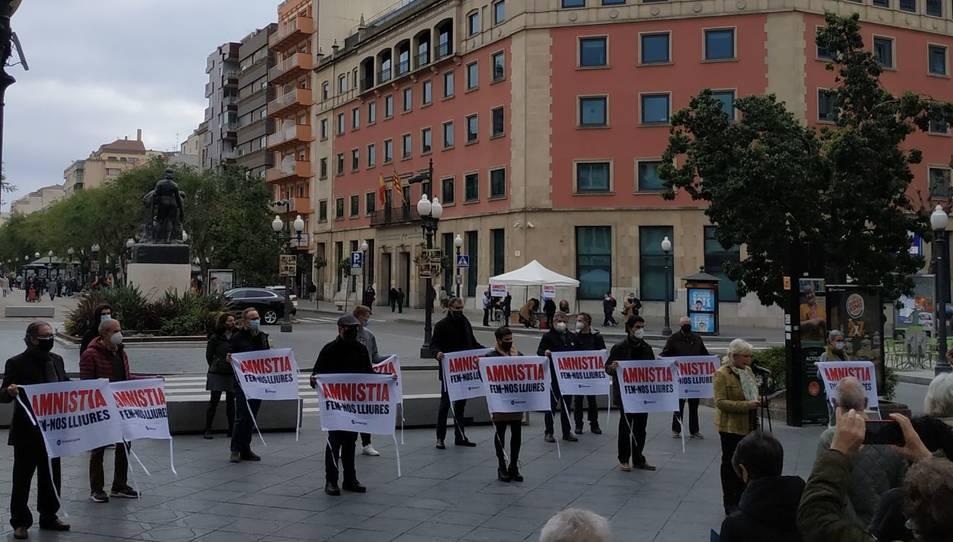 Imatge de l'acte d'Òmnium a Tarragona