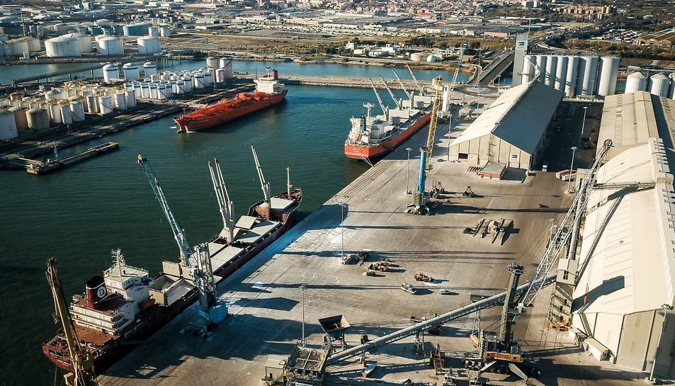Imatge del Moll de Castella del Port de Tarragona.