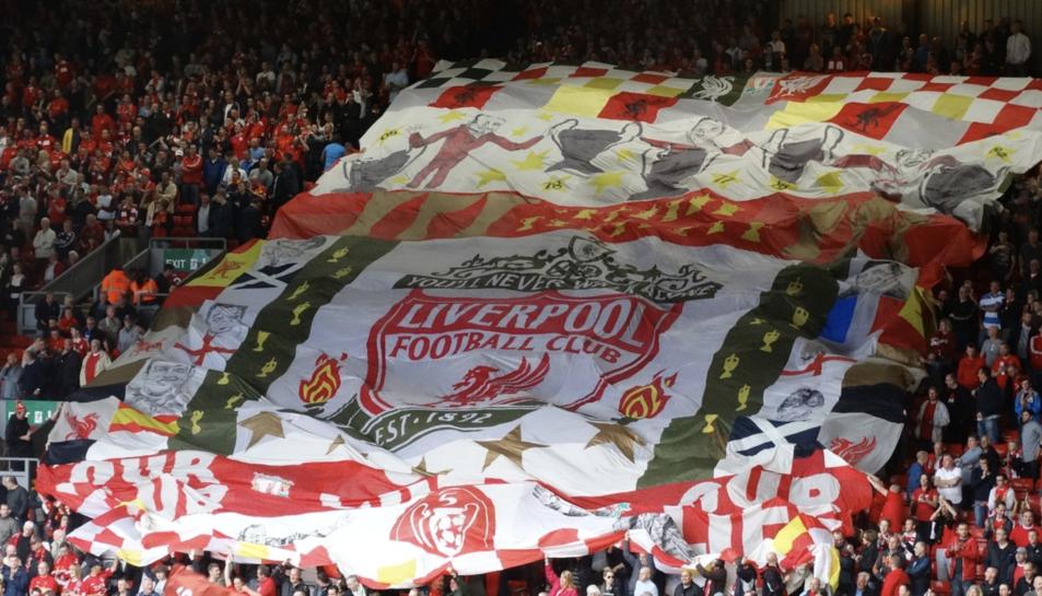 Imatge d'arxiu de l'estadi del Liverpool, Anfield.